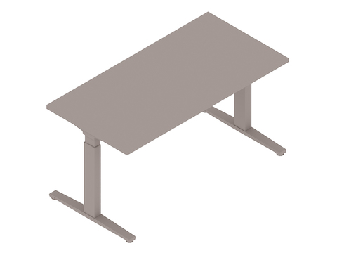 A generic rendering - Renew Sit-to-Stand Table–Rectangular–T Foot