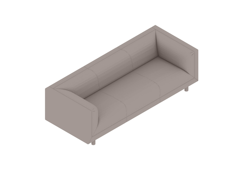 A generic rendering - Rolled Arm Sofa