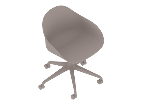 A generic rendering - Ruby Chair–5-Star Base–Fixed Height–Non-upholstered