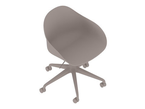 A generic rendering - Ruby Chair–5-Star Base–Gas Lift–Non-upholstered