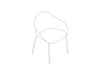 A line drawing - Ruby Side Chair–4-Leg Base–Nonupholstered