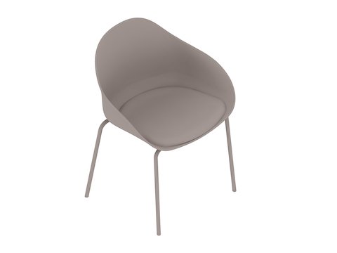 A generic rendering - Ruby Side Chair–4-Leg Base–Upholstered Seat Pad