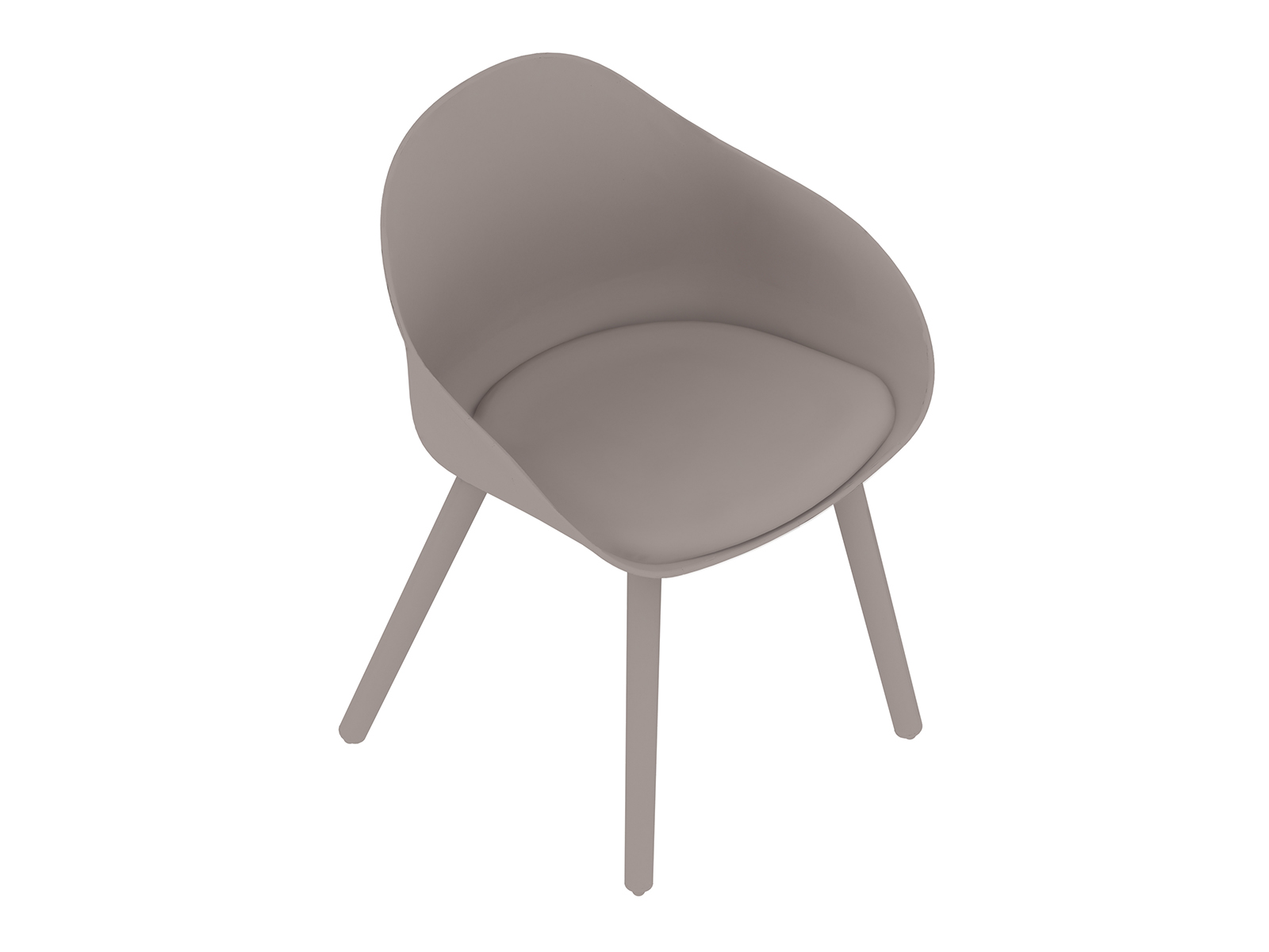 A generic rendering - Ruby Side Chair–Dowel Base–Upholstered Seat Pad