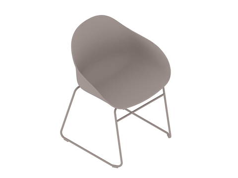 A generic rendering - Ruby Side Chair–Sled Base–Nonupholstered