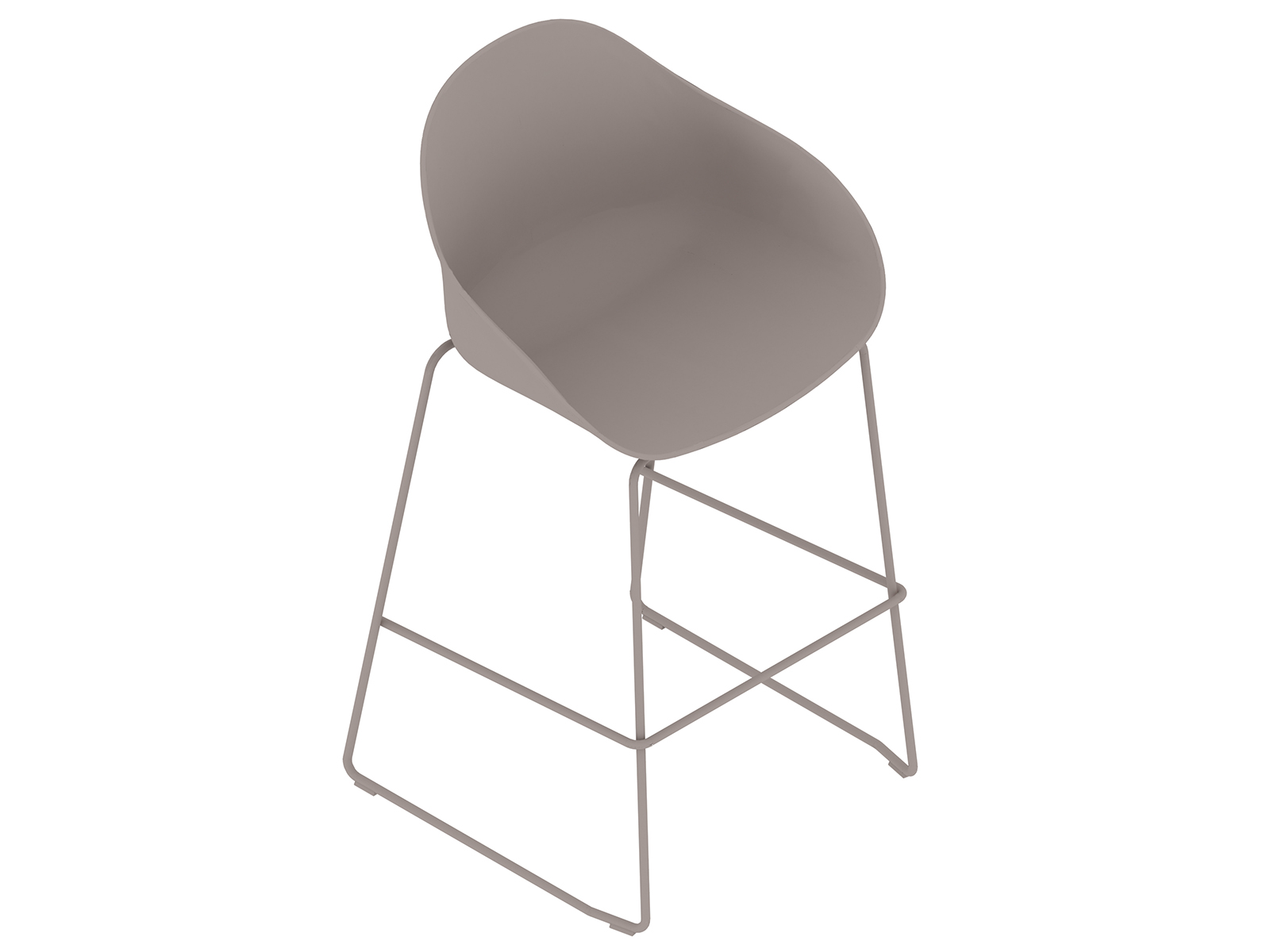 A generic rendering - Ruby Stool–Bar Height–Sled Base–Nonupholstered