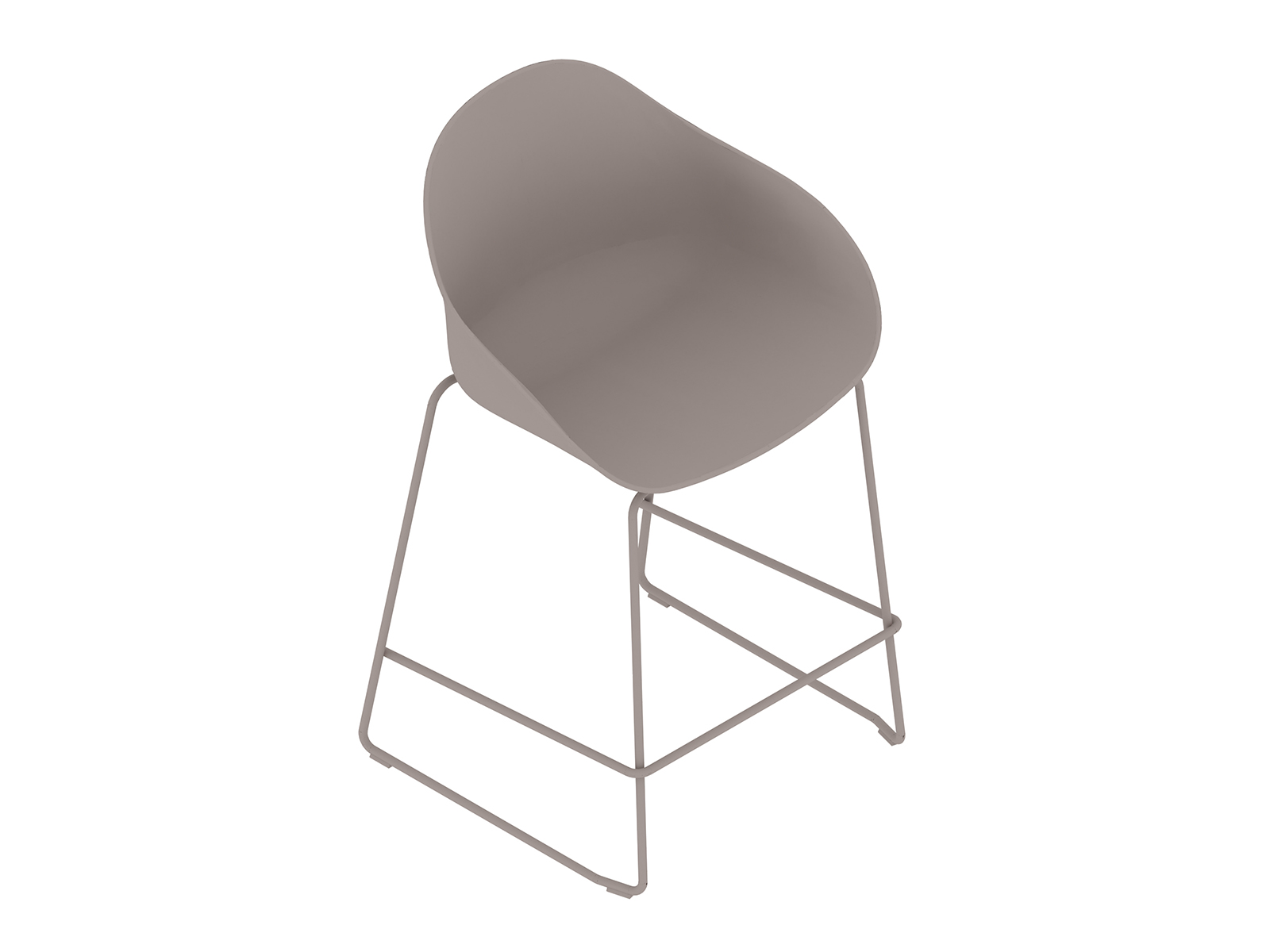 A generic rendering - Ruby Stool–Counter Height–Sled Base–Nonupholstered