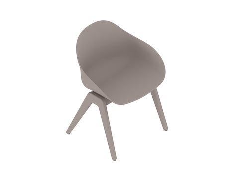 A generic rendering - Ruby Wood Chair–Non-upholstered