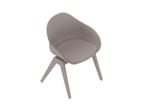 A generic rendering - Ruby Wood Chair–Upholstered Seat Pad