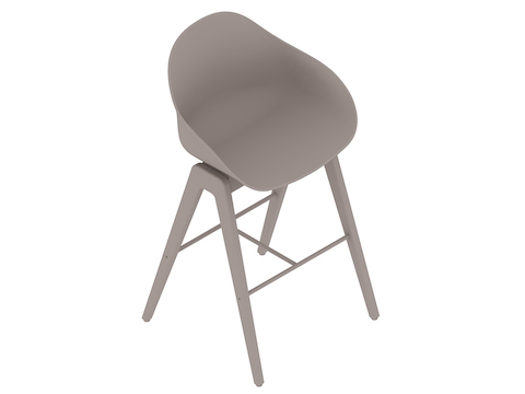 A generic rendering - Ruby Wood Stool–Bar Height–Nonupholstered