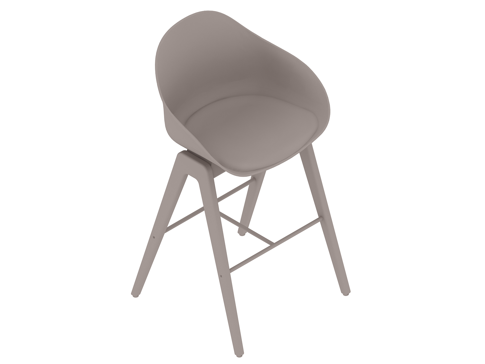 A generic rendering - Ruby Wood Stool–Bar Height–Upholstered Seat Pad