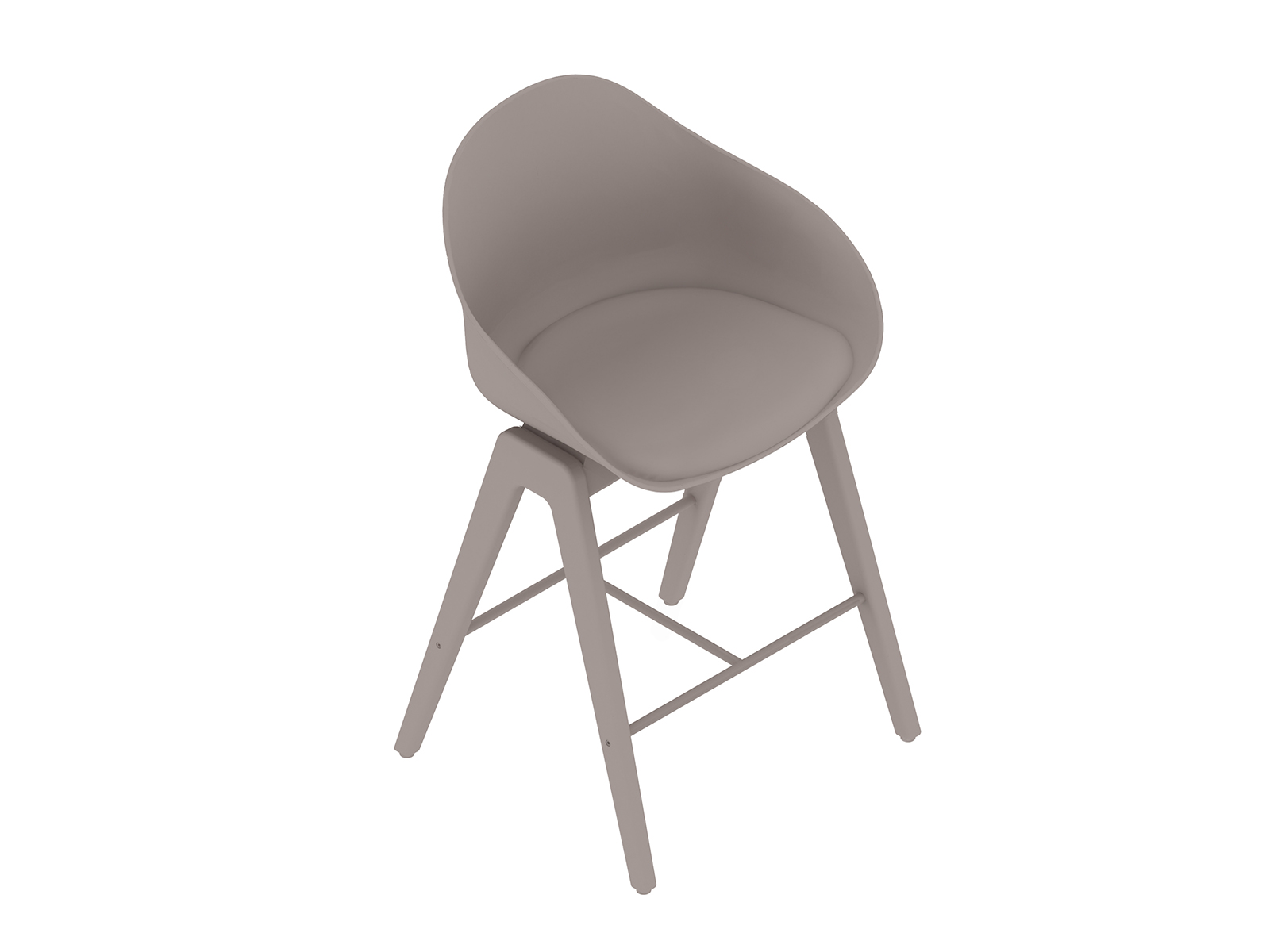 A generic rendering - Ruby Wood Stool–Counter Height–Upholstered Seat Pad
