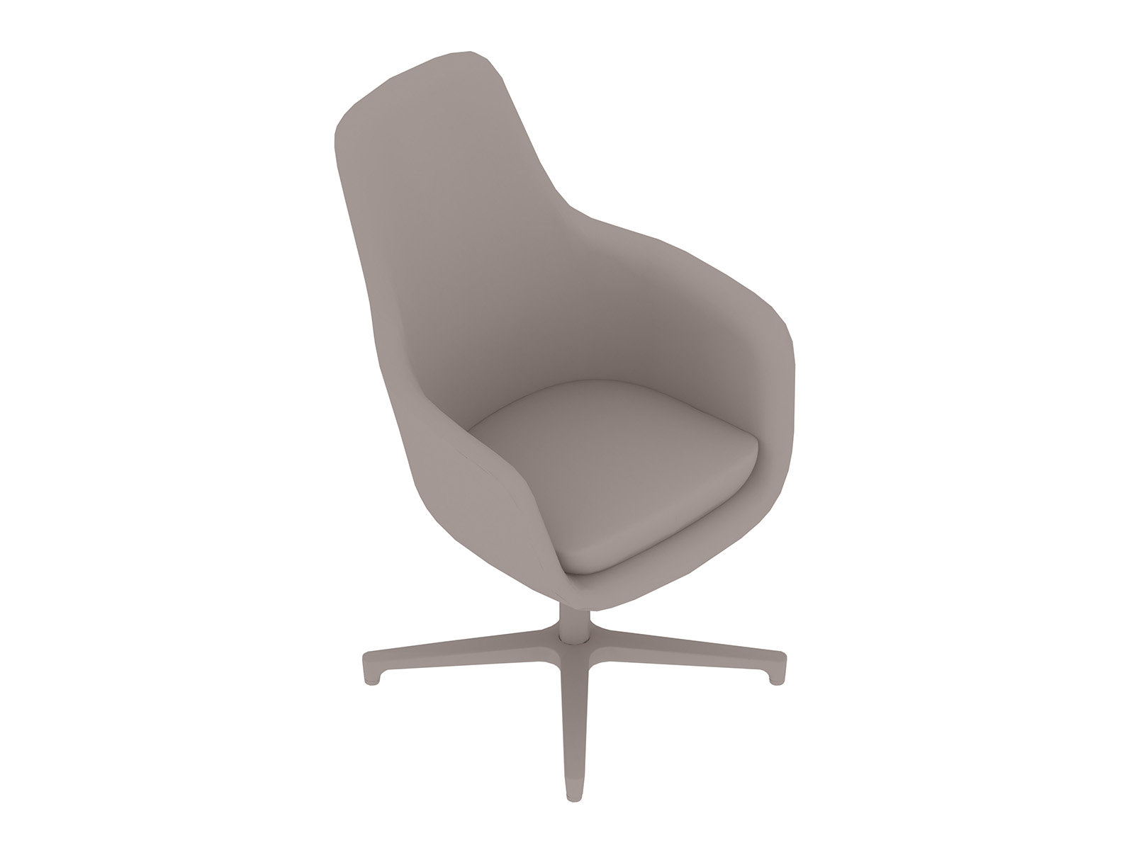 A generic rendering - Saiba Chair–High Back–4-Star Base
