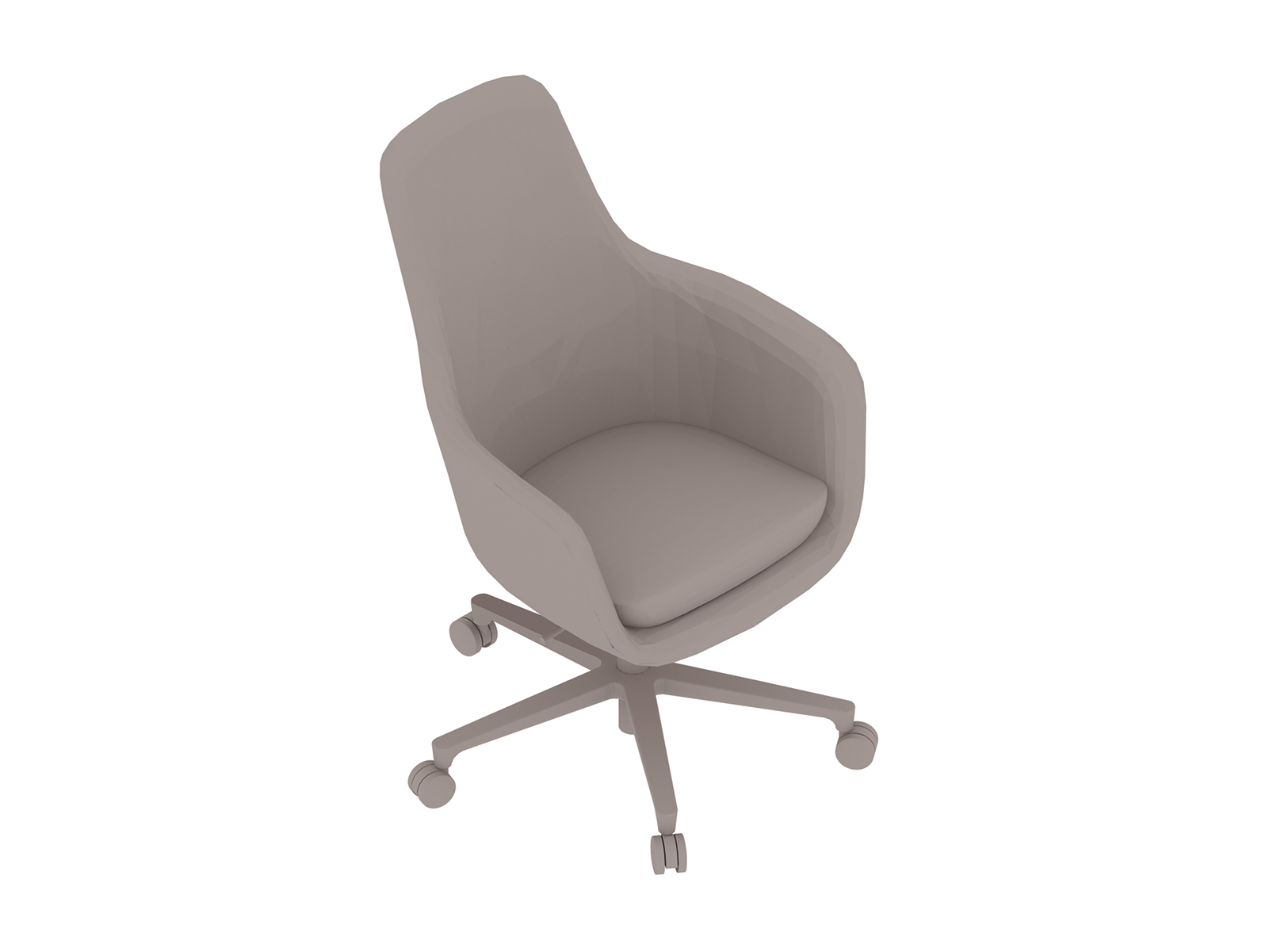A generic rendering - Saiba Chair–High Back–5-Star Base