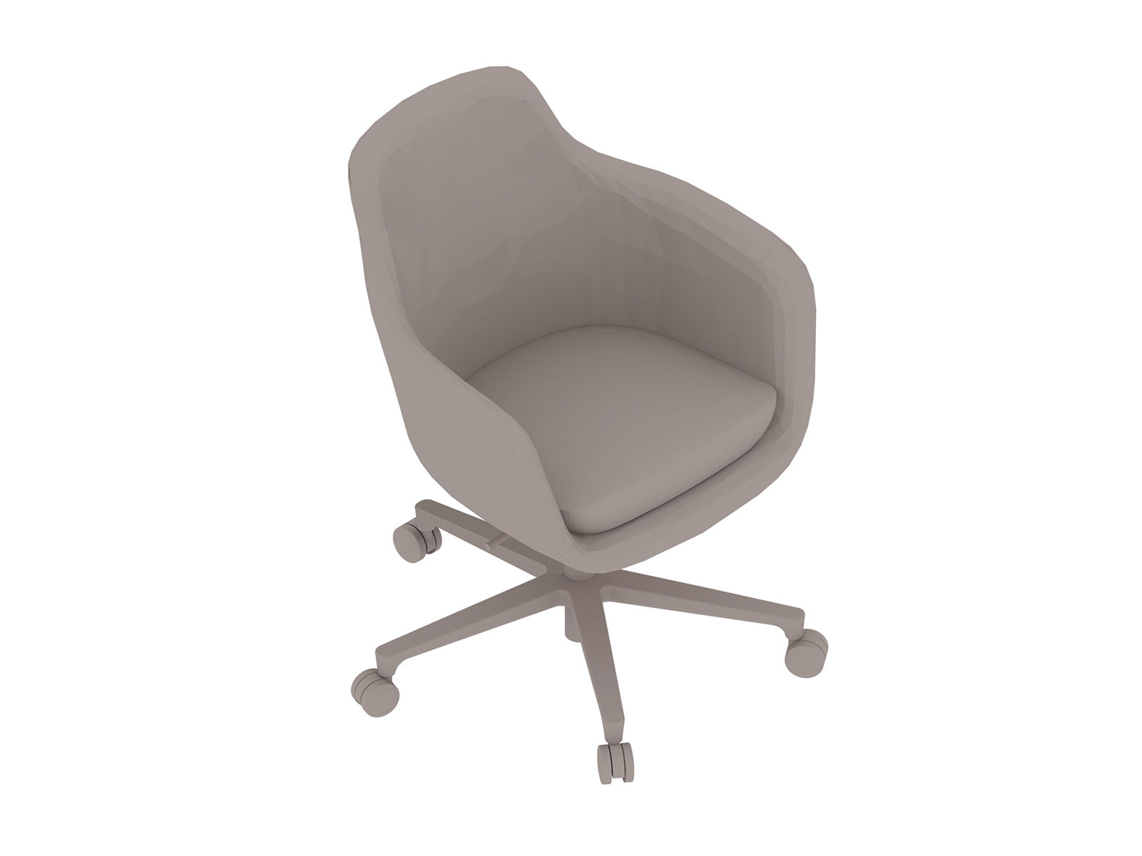 A generic rendering - Saiba Chair–Mid Back–5-Star Base