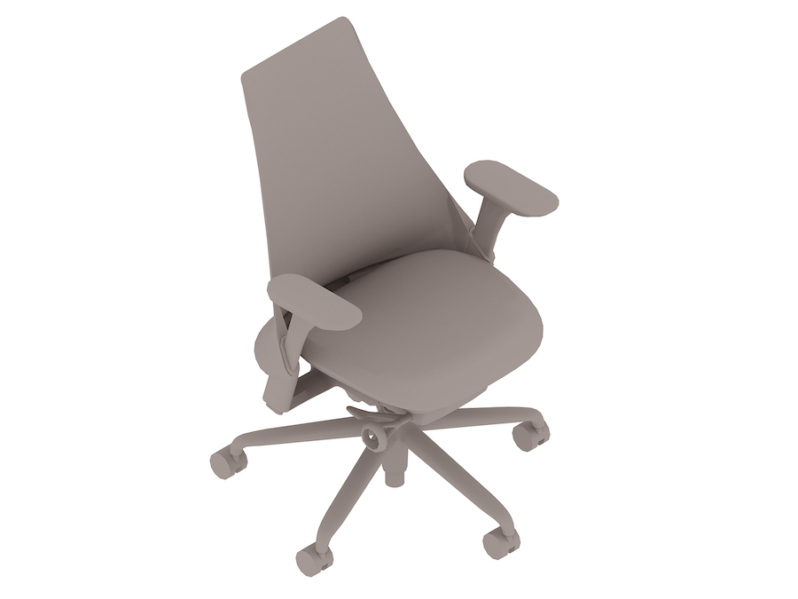 A generic rendering - Sayl Chair–Upholstered High Back–Fixed Arms