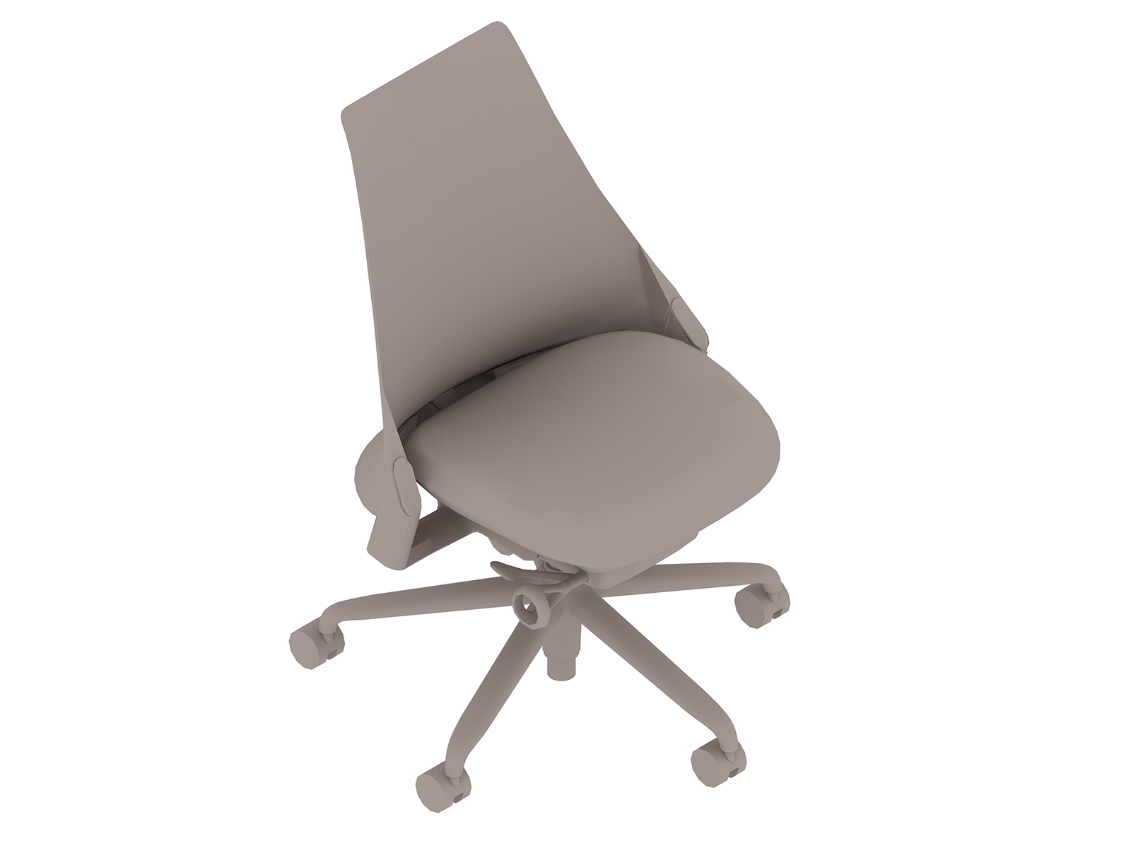 A generic rendering - Sayl Chair–Upholstered Mid Back–Armless