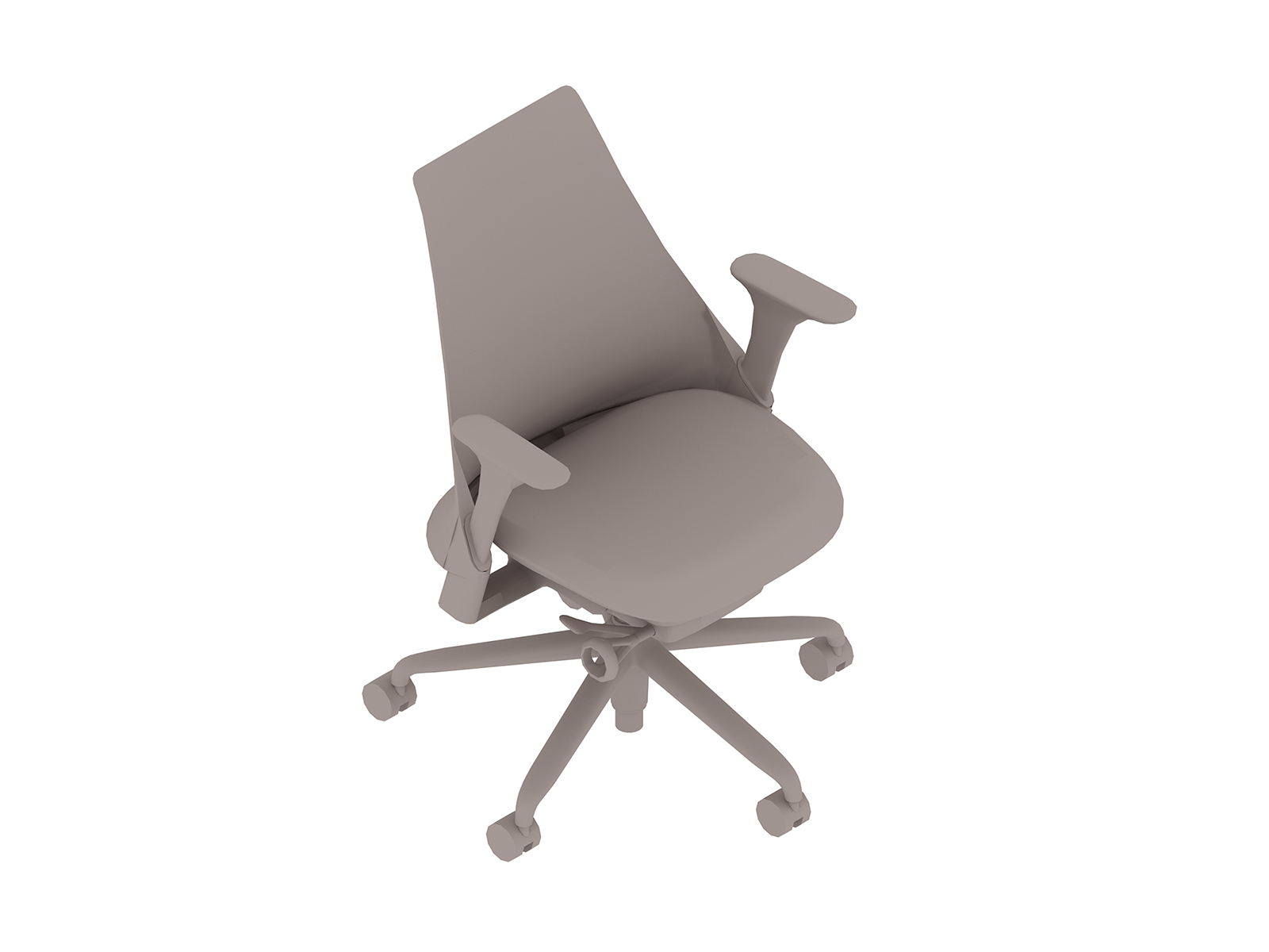 A generic rendering - Sayl Chair–Upholstered Mid Back–Fixed Arms