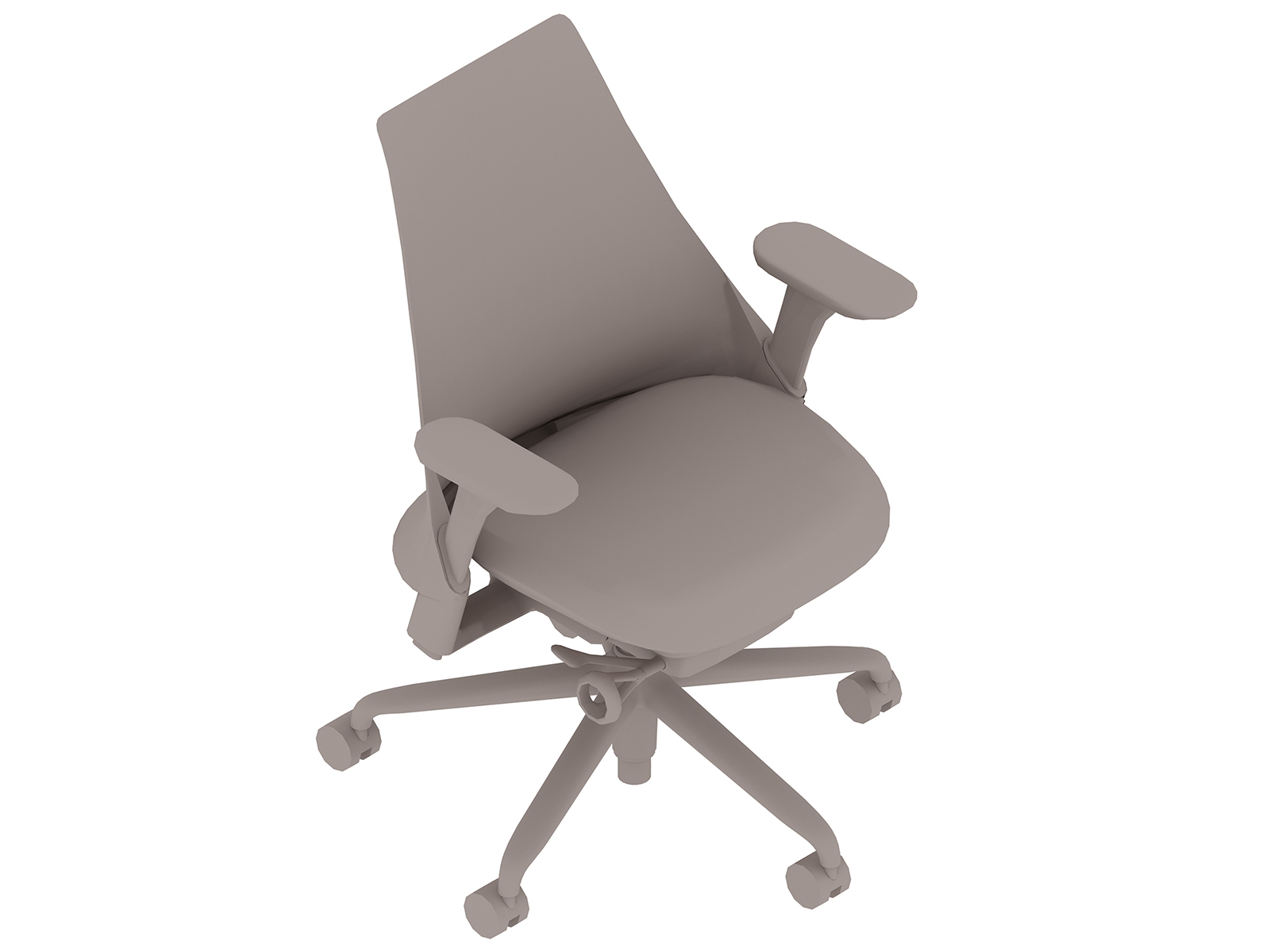 A generic rendering - Sayl Chair–Upholstered Mid Back–Height Adjustable Arms