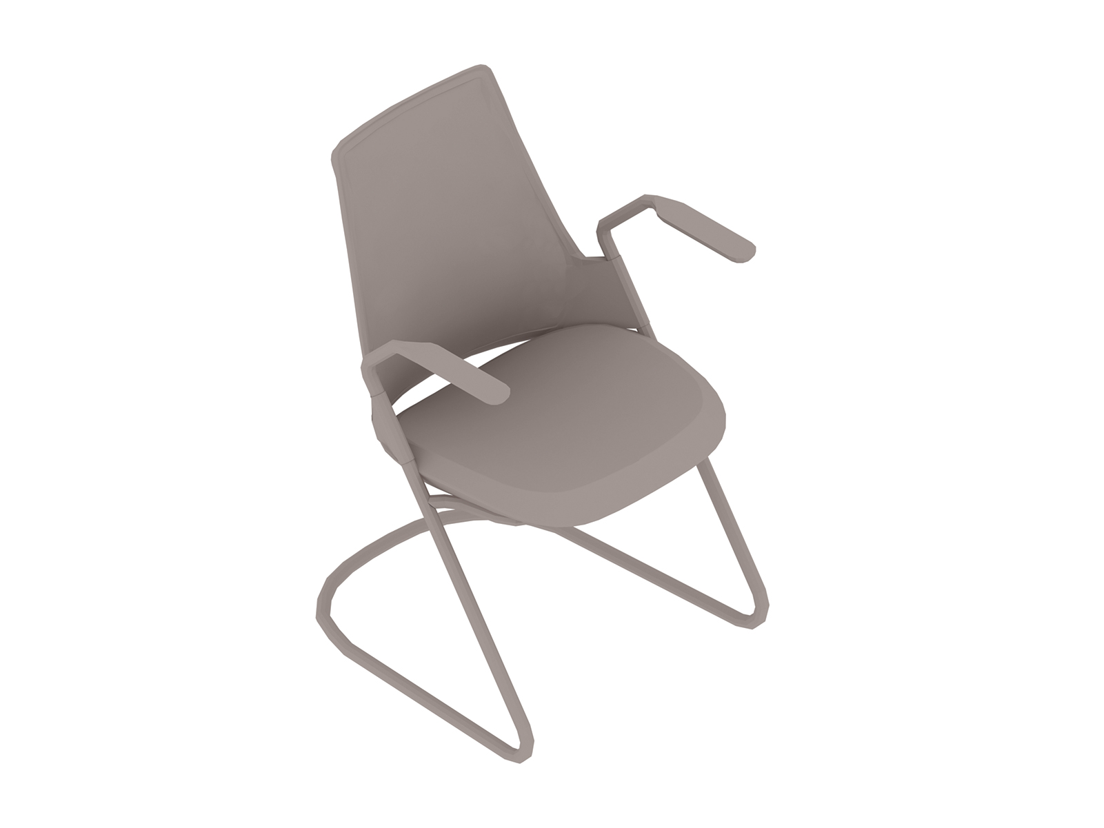 A generic rendering - Sayl Side Chair–Sled Base