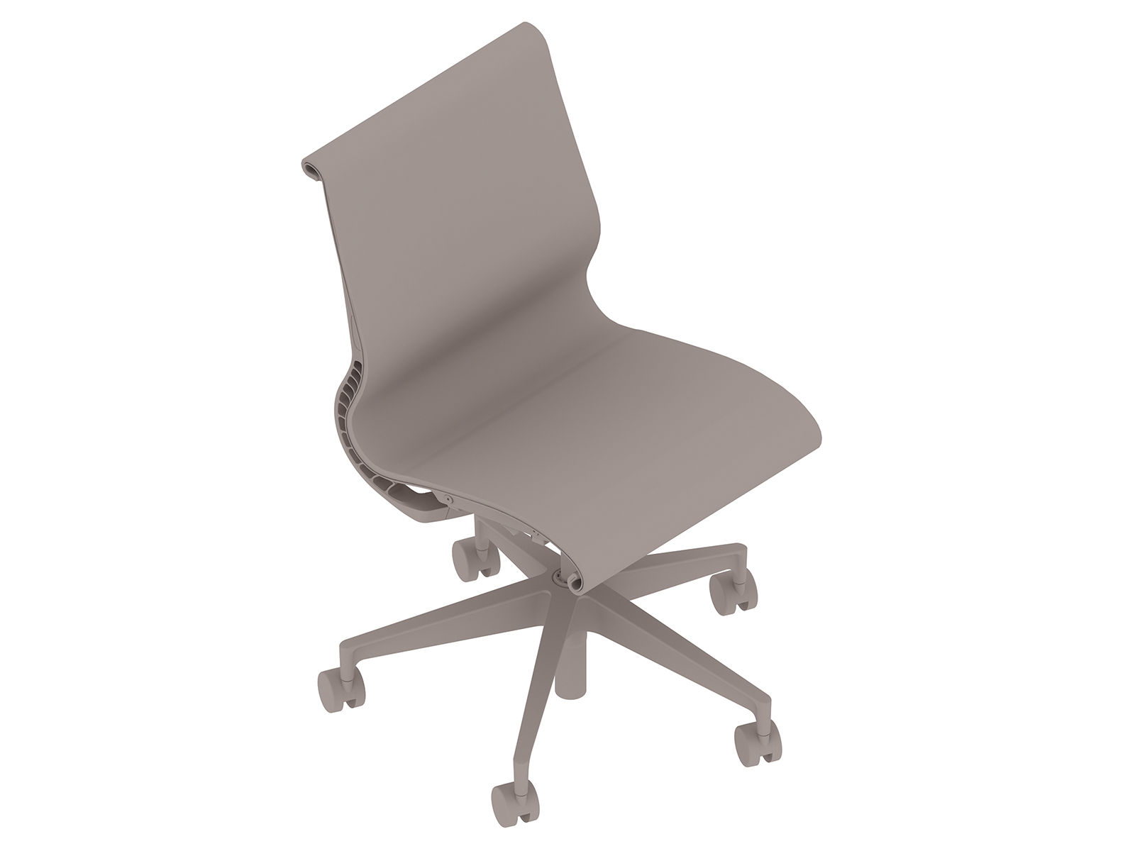 A generic rendering - Setu Chair–5-Star Base–Armless