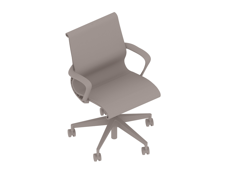 A generic rendering - Setu Chair–5-Star Base–Ribbon Arms