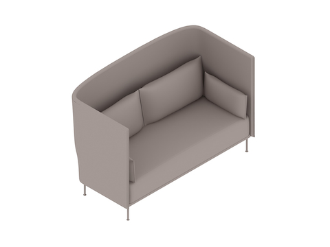 A generic rendering - Silhouette Sofa–High Back–2 Seat