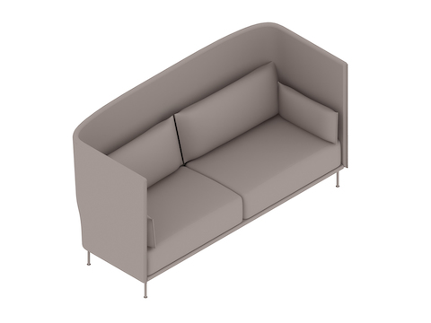 A generic rendering - Silhouette Sofa–High Back–3 Seat