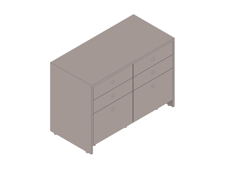 A generic rendering - Sled Base Credenza–2 Units Wide