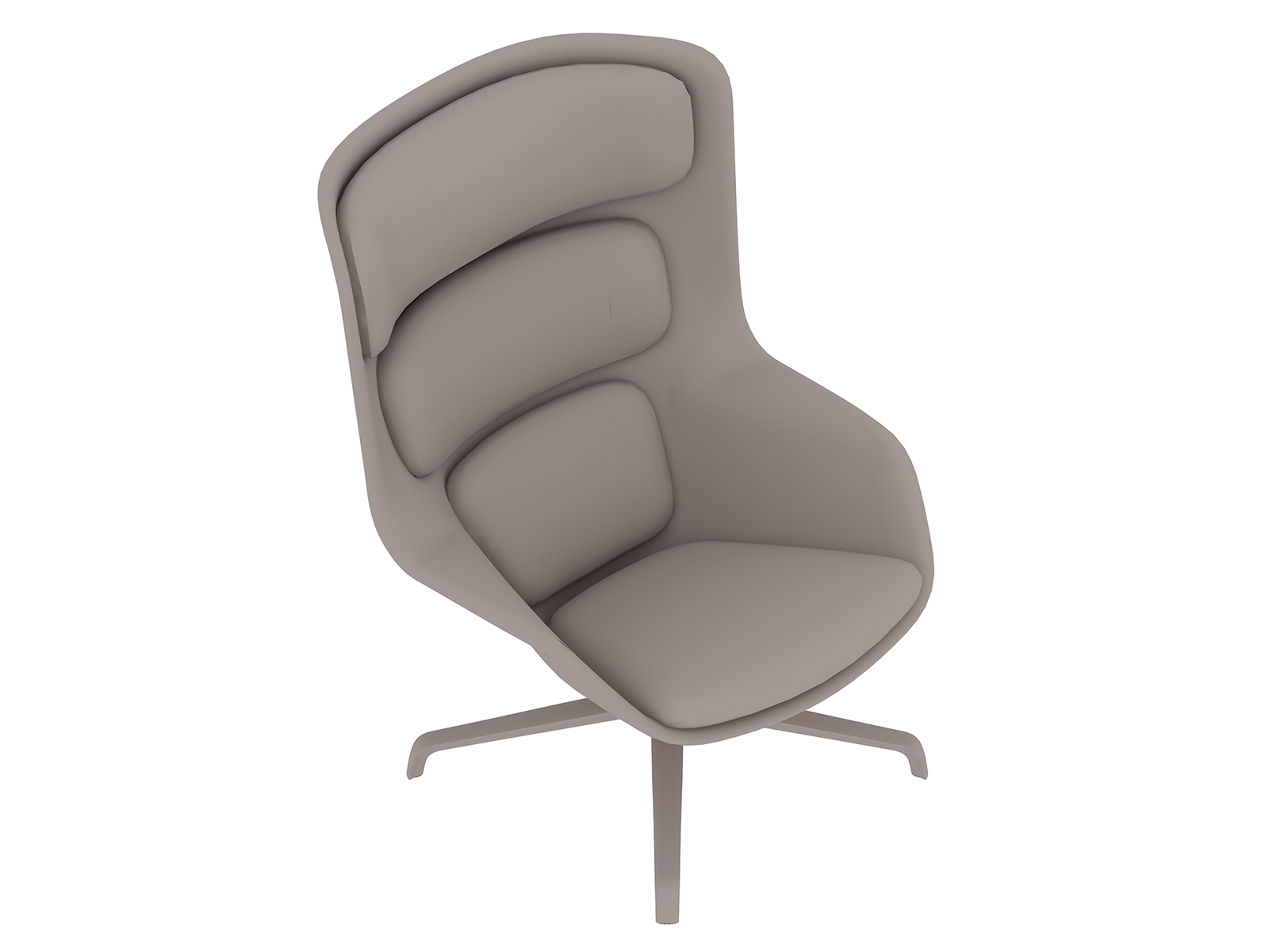 A generic rendering - Striad Lounge Chair–High Back–4-Star Base
