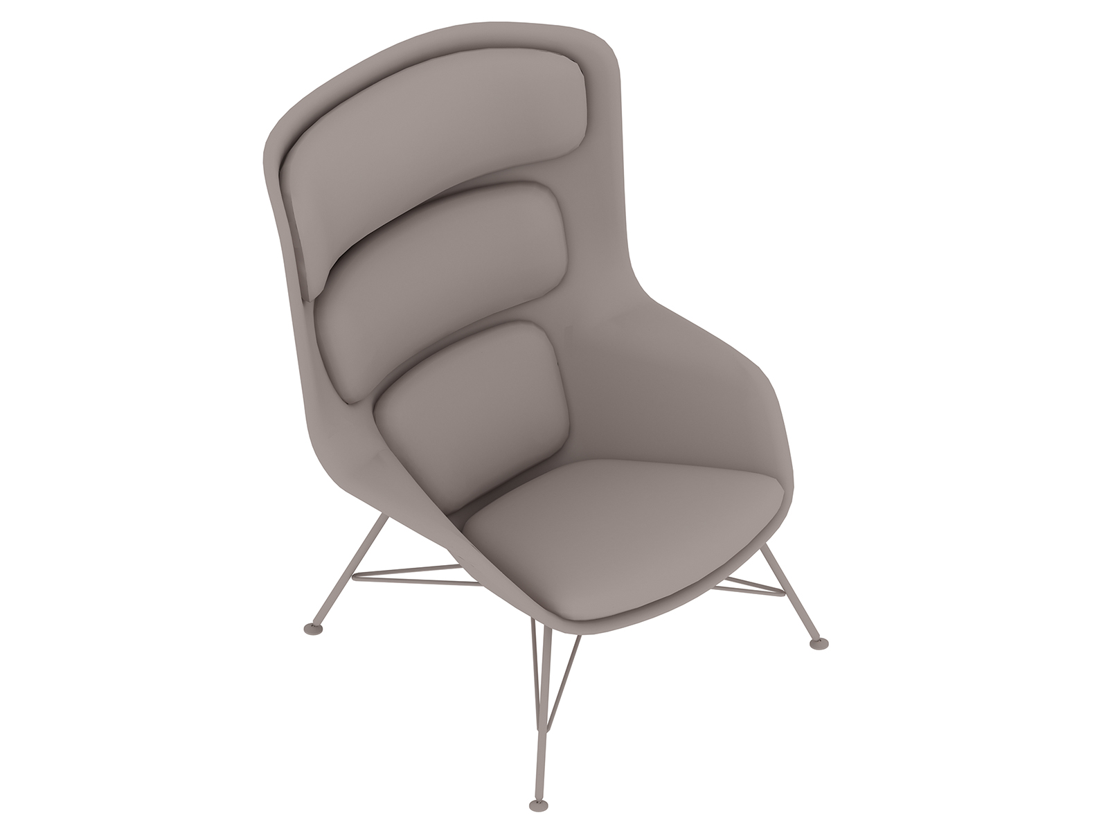 A generic rendering - Striad Lounge Chair–High Back–Wire Base
