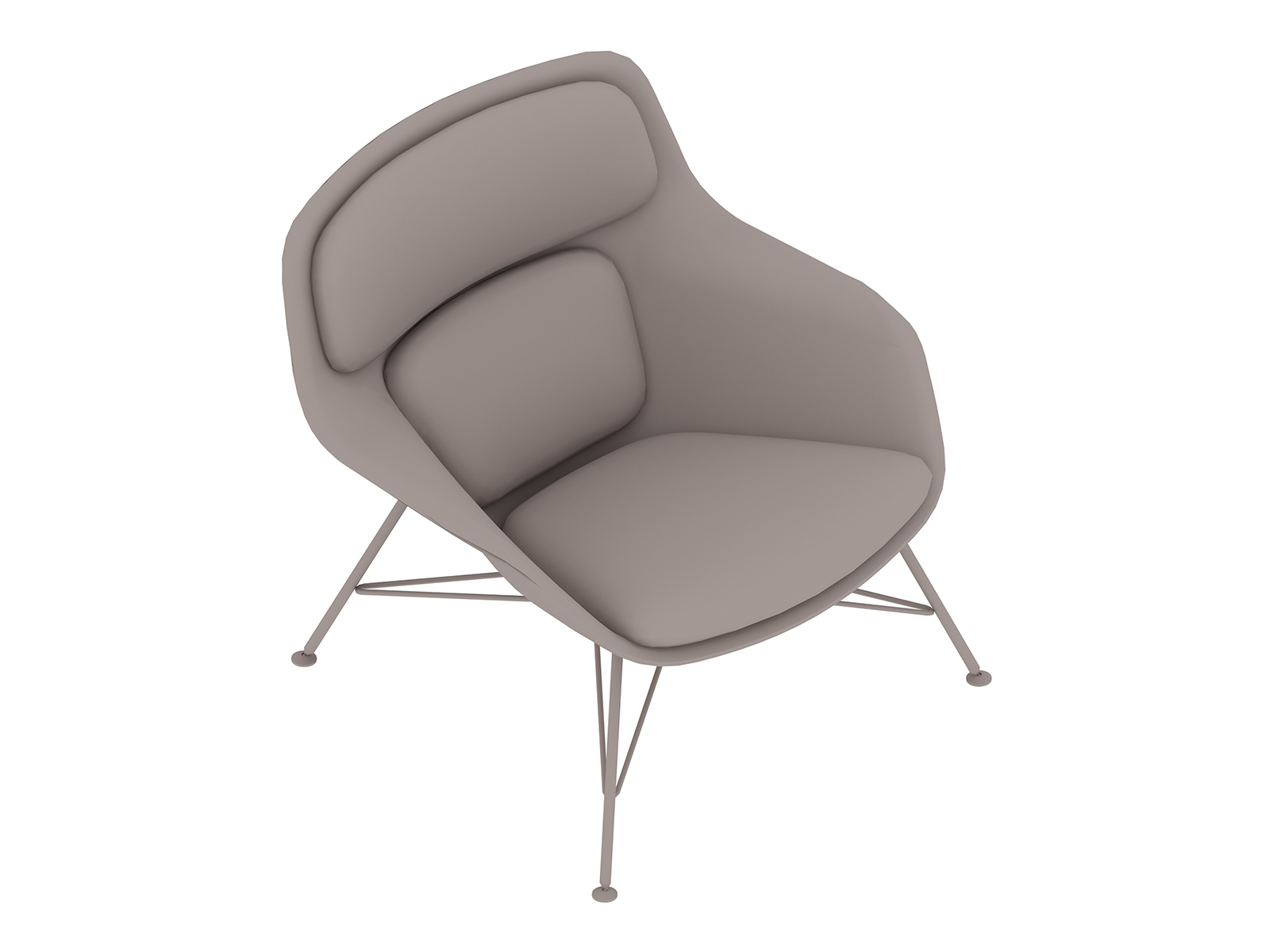 A generic rendering - Striad Lounge Chair–Low Back–Wire Base