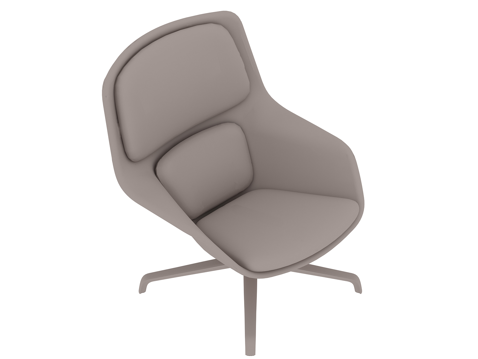 A generic rendering - Striad Lounge Chair–Mid Back–4-Star Base