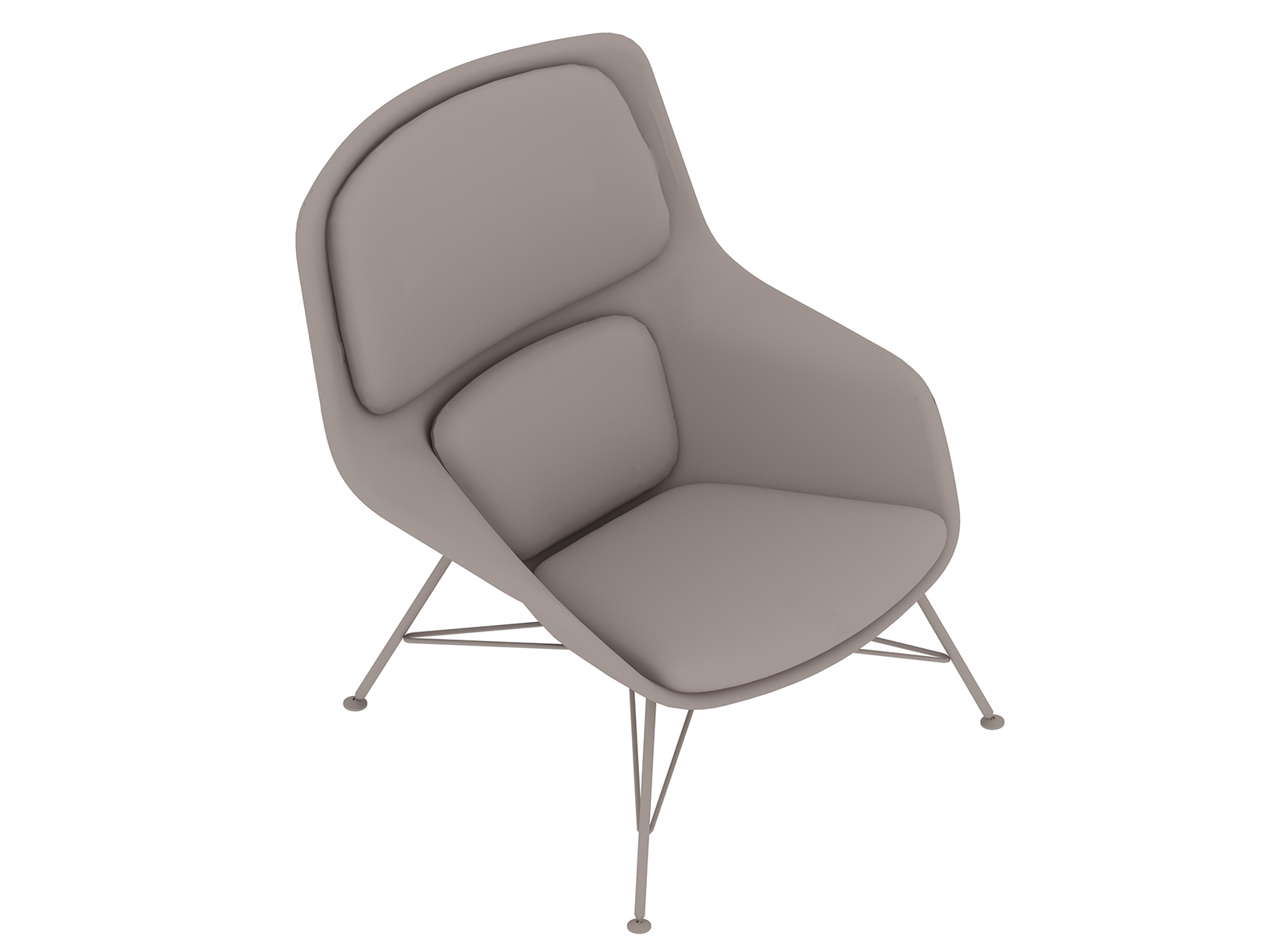 A generic rendering - Striad Lounge Chair–Mid Back–Wire Base