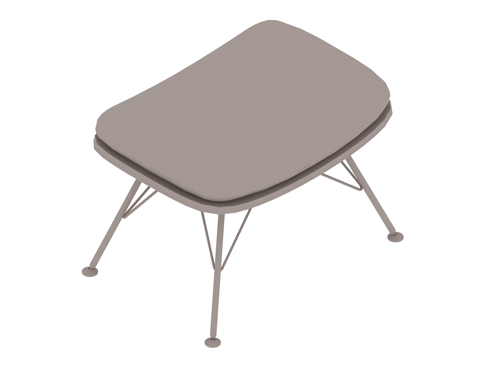 A generic rendering - Striad Ottoman–Wire Base