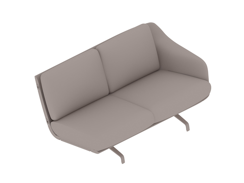 A generic rendering - Striad Sofa–Low Back–2 Seat–Left Arm–4-Leg Base