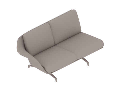 A generic rendering - Striad Sofa–Low Back–2 Seat–Right Arm–4-Leg Base