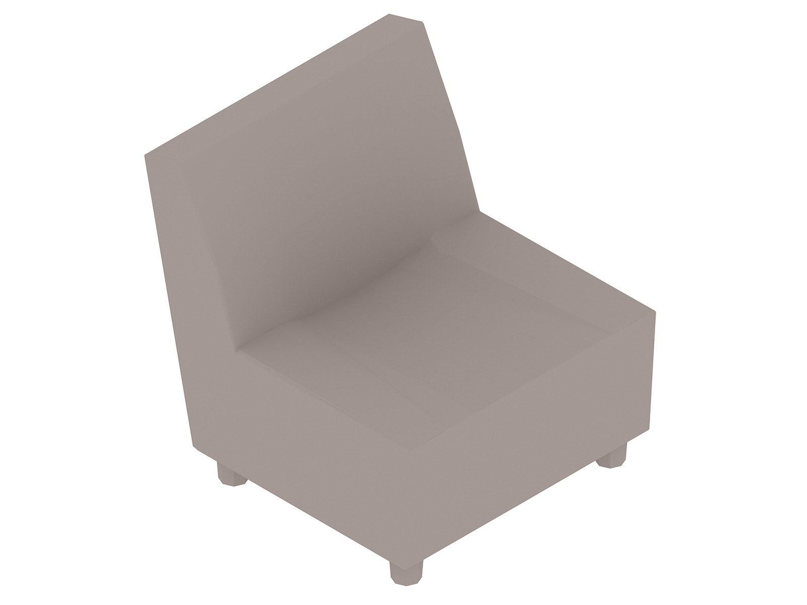 A generic rendering - Swoop Chair–Armless
