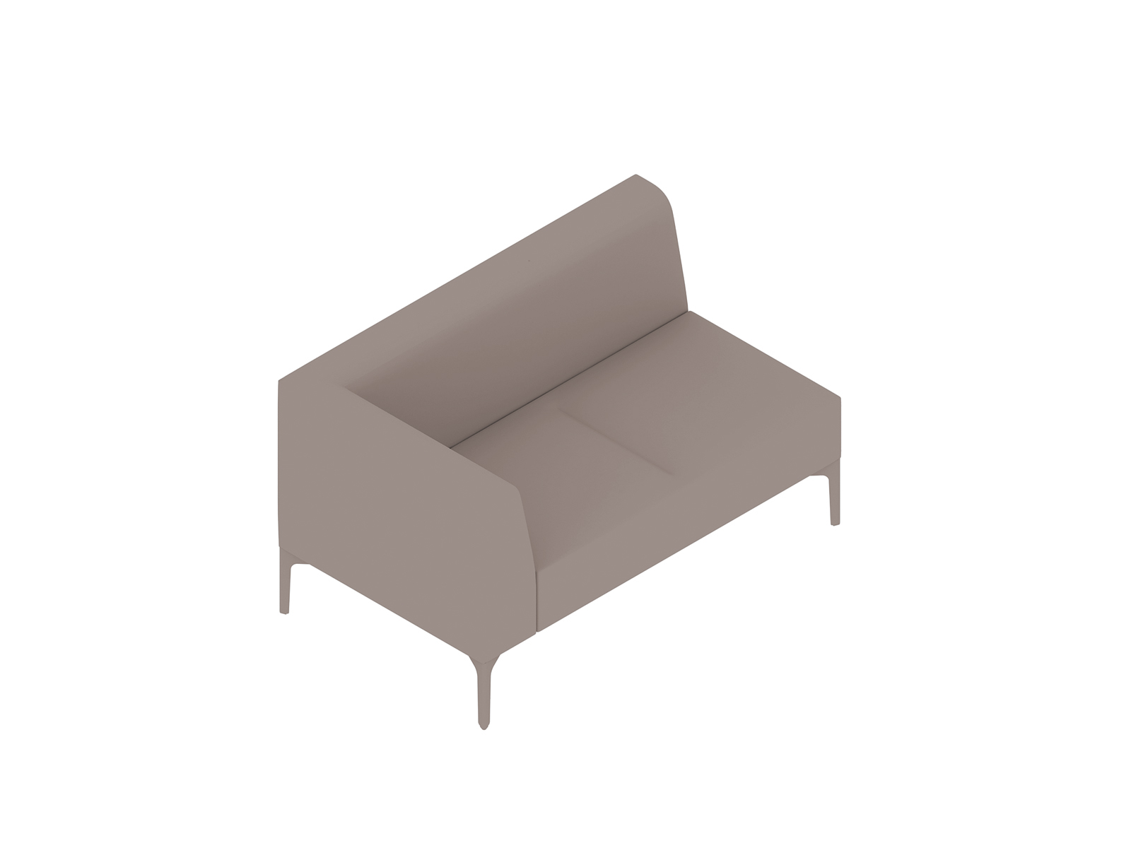 A generic rendering - Symbol Modular Seating–Right Arm–2 Seat