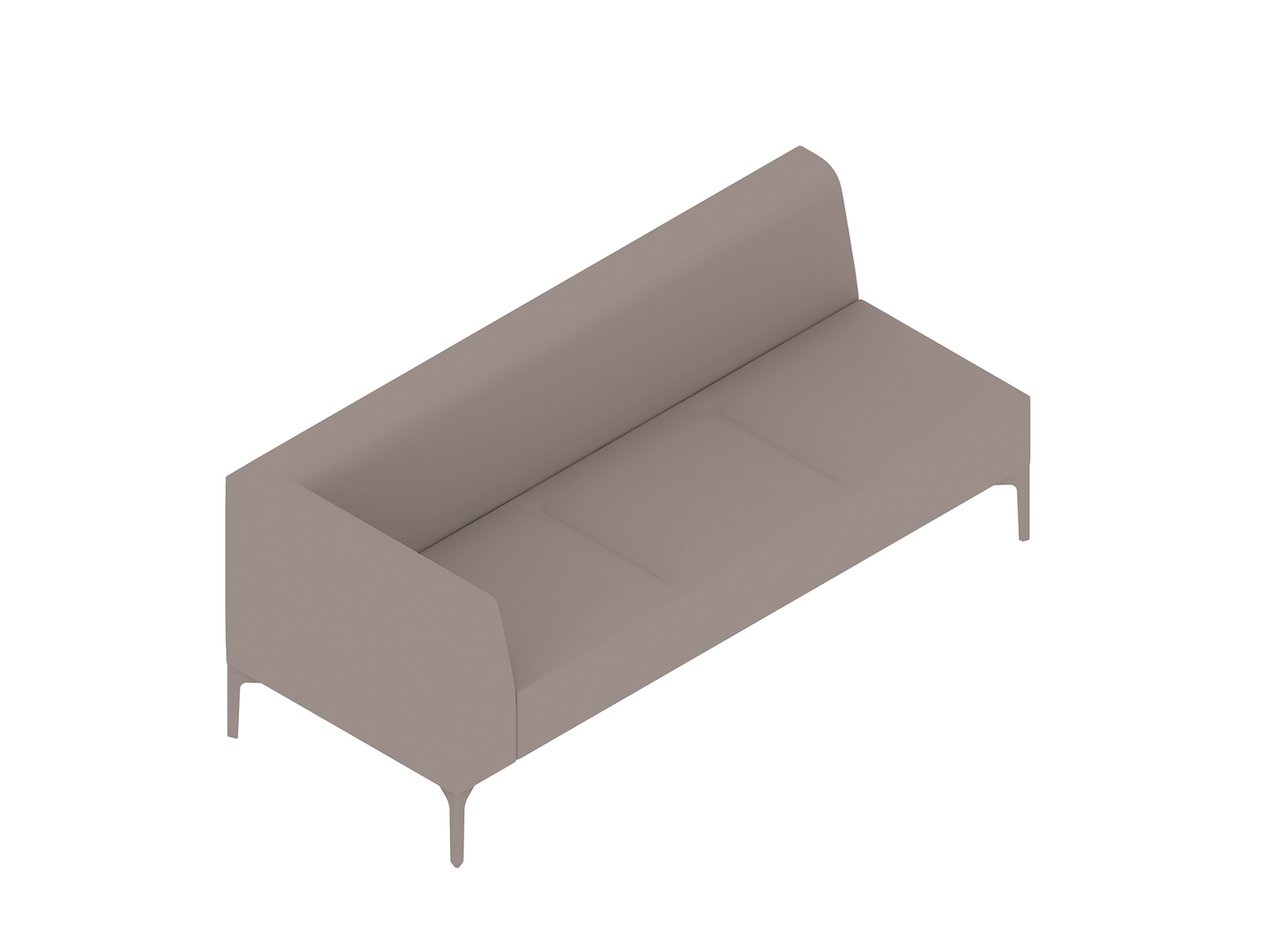 A generic rendering - Symbol Modular Seating–Right Arm–3 Seat