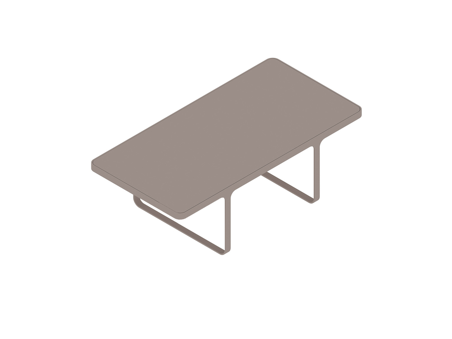 A generic rendering - Trace Coffee Table–Rectangular