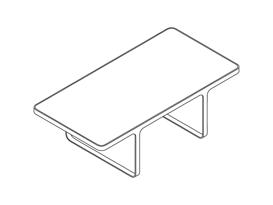 A line drawing - Trace Coffee Table–Rectangular