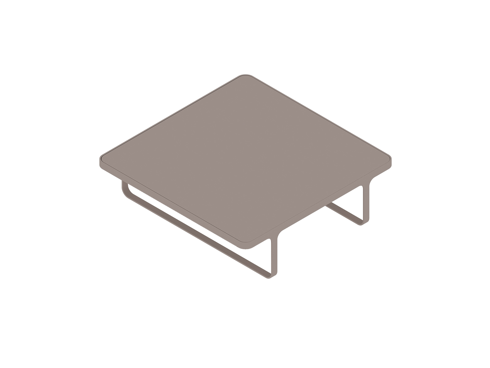 A generic rendering - Trace Coffee Table–Square