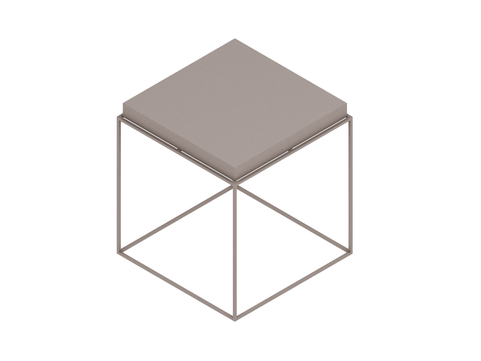 A generic rendering - Tray Side Table–Square