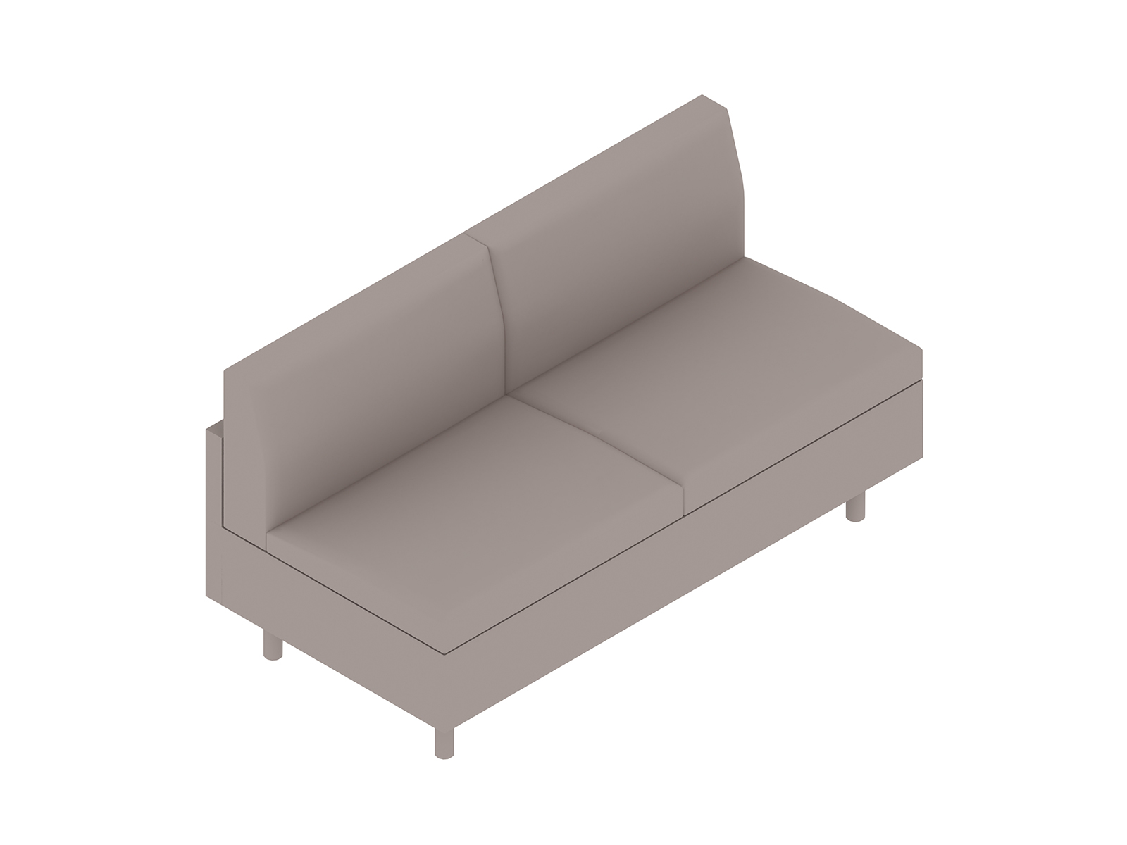A generic rendering - Tuxedo Classic Settee–Armless
