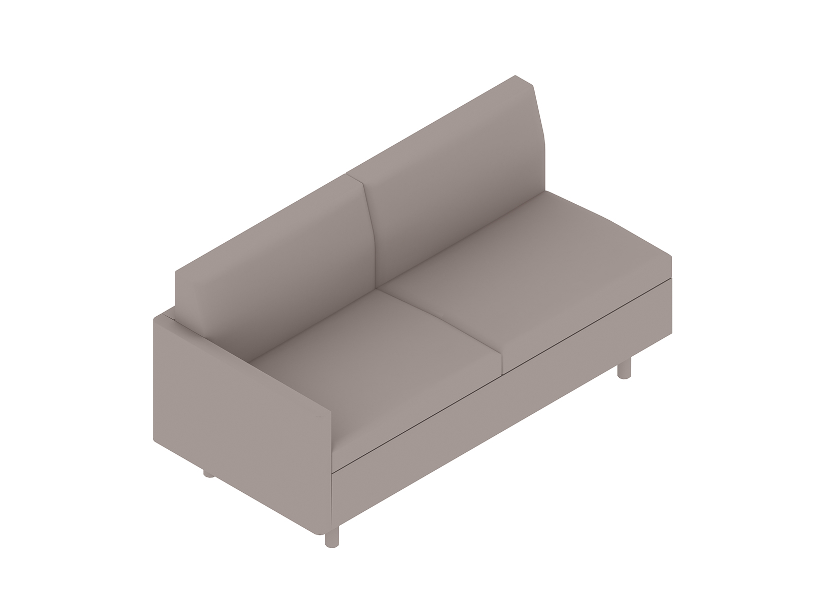 A generic rendering - Tuxedo Classic Settee–Right Arm