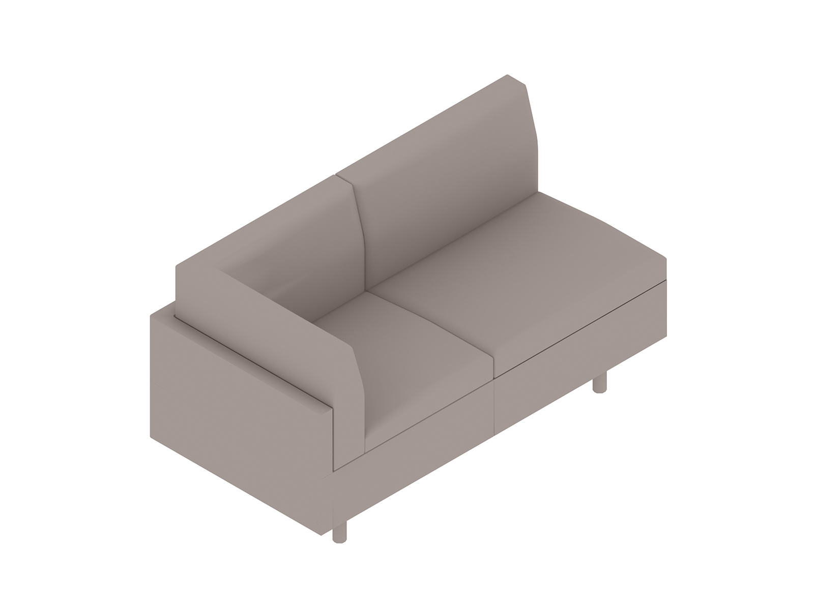 A generic rendering - Tuxedo Classic Settee–Right Corner–Left Armless