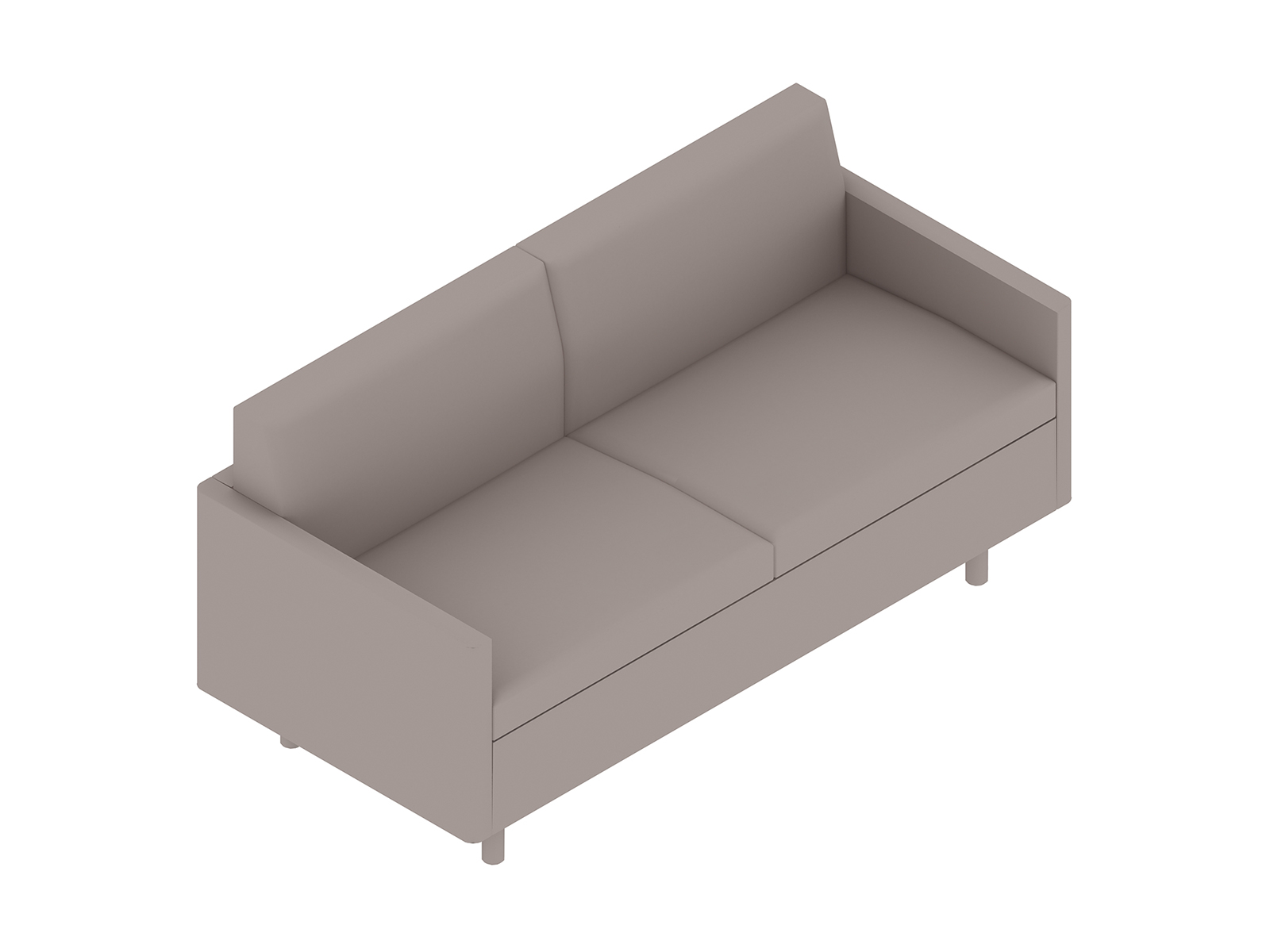 A generic rendering - Tuxedo Classic Settee–With Arms