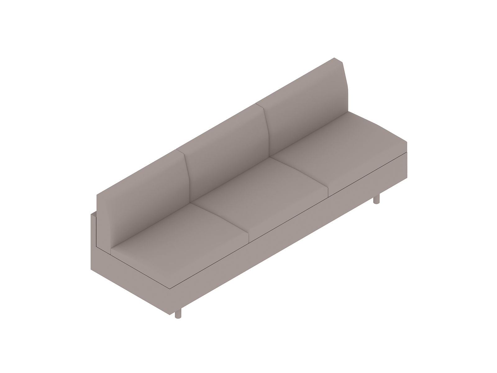 A generic rendering - Tuxedo Classic Sofa–Armless