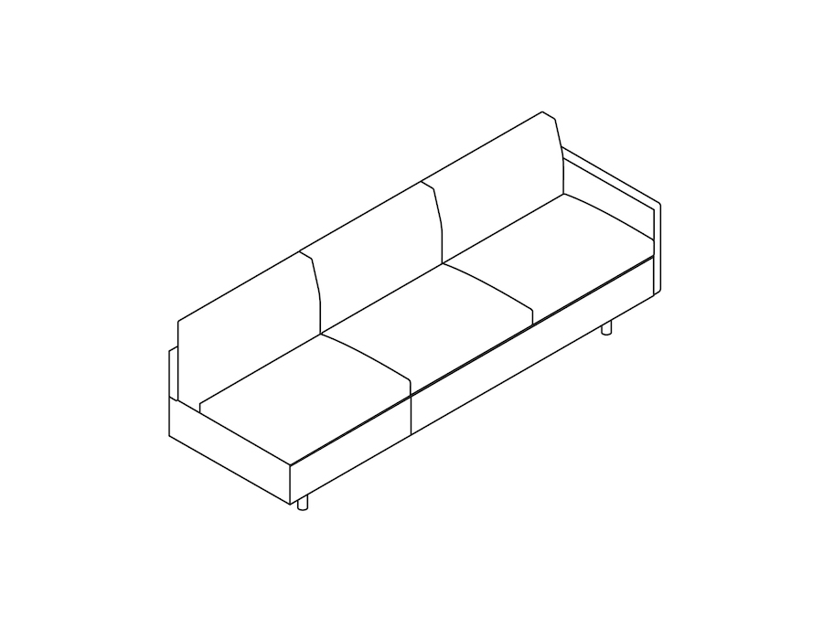 A line drawing - Tuxedo Classic Sofa–Left Arm