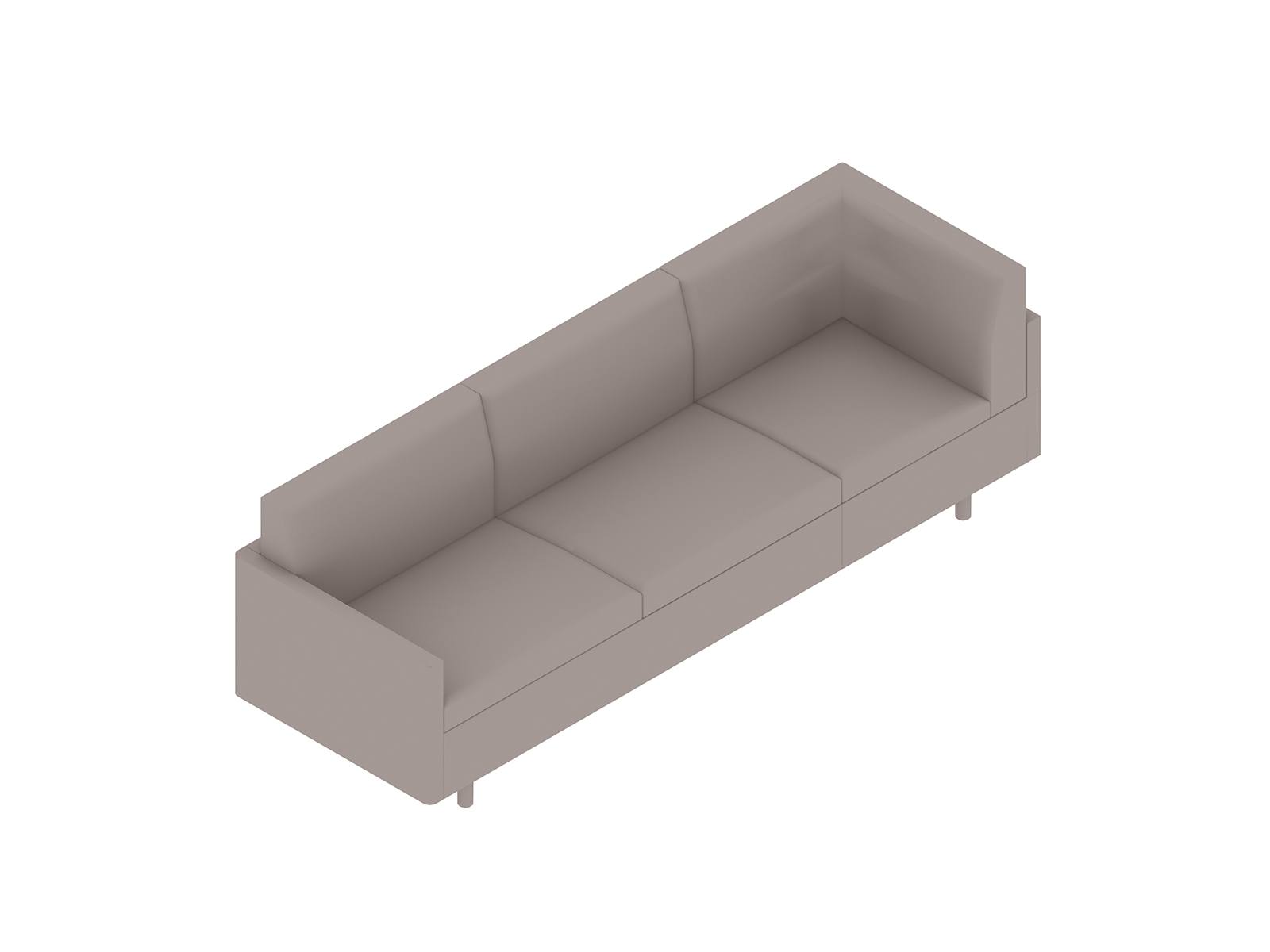A generic rendering - Tuxedo Classic Sofa–Left Corner–Right Arm